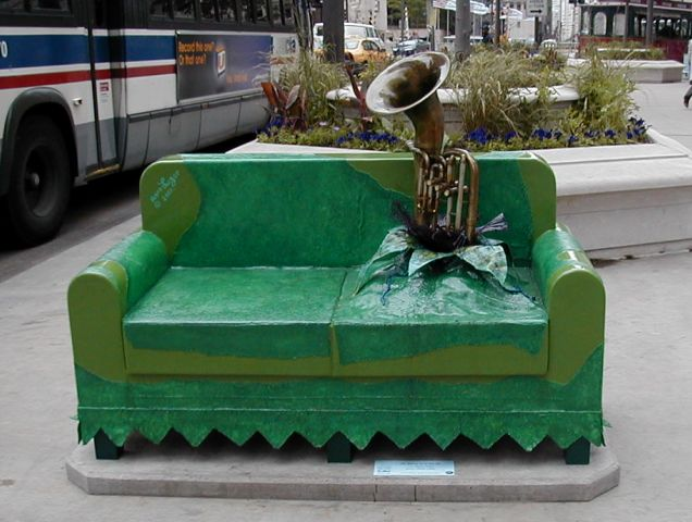 Chairs on parade? City is furnishing them as street art