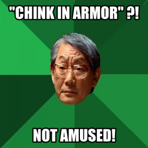 Chink in armor