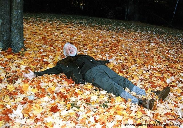 Caroll Spinney 146_B3_ARC_Photo_036_CS_Playing_in_Leaves photo by Debra Spinney