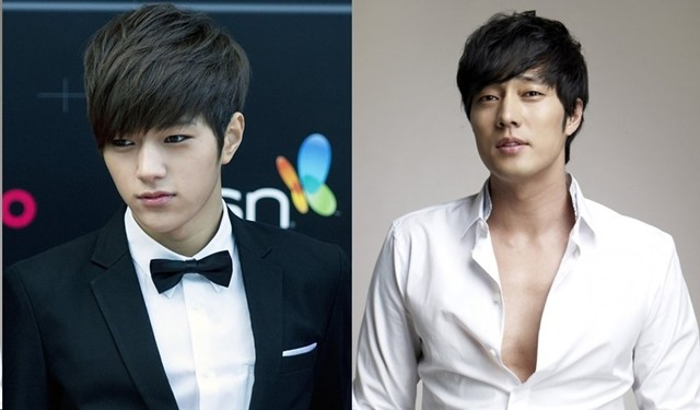 Kim Myung-Soo (Left) plays the younger version of So Ji Sub's character.